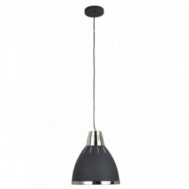 Lustre suspension noir chromé