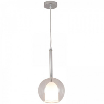 Lustre Double Abat-jour LIGHTIN transparent et opaque