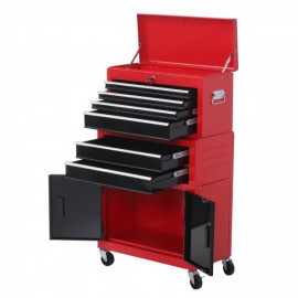 Range outils à tiroirs rouge vif