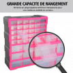Casier de Rangement 39 Tiroirs Belgique Transparents
