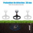 Détecteur de métaux électrique France noir