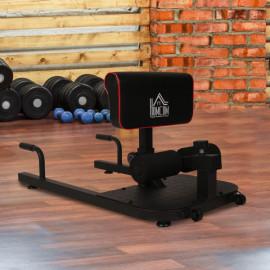 Banc à squat & appareil à abdominaux Arnold en acier noir