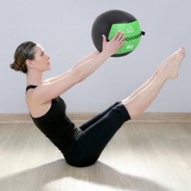 Balle Fitness Virginie en simili cuir vert