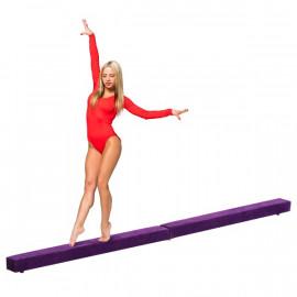 Poutre de Gymnastique Pliable Katelyn en Daim Violet