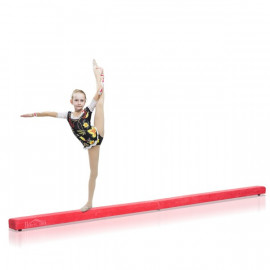 Poutre de Gymnastique Pliable en Daim Rouge 210 x 10 x 6,5 cm
