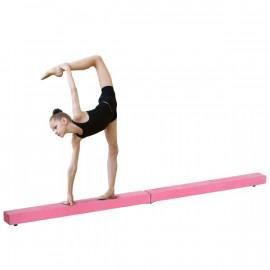 Poutre de gymnastique pliable Briana en daim rose