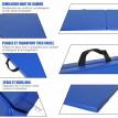 tapis de gymnastique FITTY polyvalent bleu