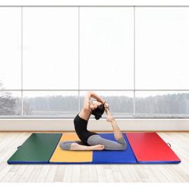 Tapis pour gym et fitness multicolore
