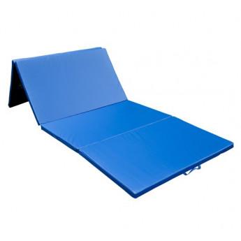 Tapis de fitness et de gymnastique bleu