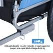 Remorque vélo pour animal de compagnie bleu