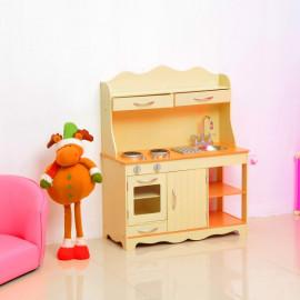 Jouet Cuisine pour Enfant en Bois Jaune 77 x 30 x 95 cm