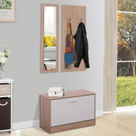 Ensemble de meubles d'entrée couleur bois