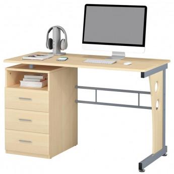 Bureau Informatique avec tiroirs de rangement - couleur érable