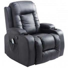 Fauteuil de massage chauffant Terry noir