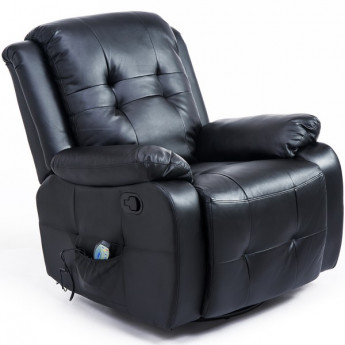 Fauteuil de massage chauffant Nicolas noir