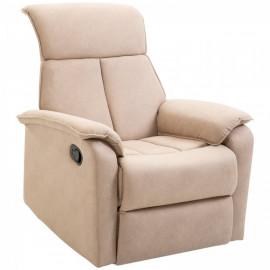 Fauteuil de relaxation pivotant Solara beige 200