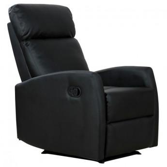 Fauteuil de relaxation inclinable noir Lorenzo