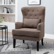 Fauteuil Chesterfield Vintage Dublinoy taupe