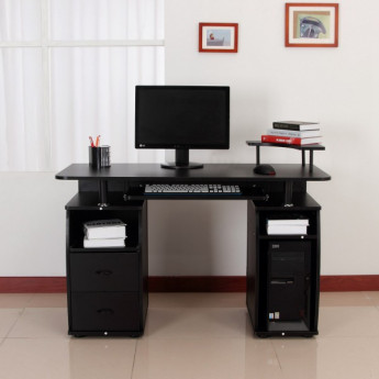 Bureau informatique multimédia Hamilton noir