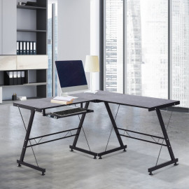 Bureau d'angle informatique Tom Noir