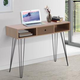 Table console Plazig bois de chêne