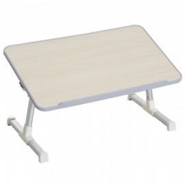 Table de Lit Igor Hauteur Réglable en Métal Beige 54 x 30 x 32 cm