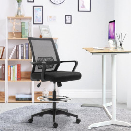 Fauteuil de bureau assise haute Igor noir