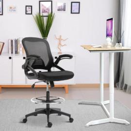 Fauteuil de bureau assise haute Jenny noir
