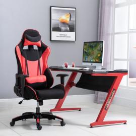 Fauteuil de bureau gamer Mitch rouge et noir