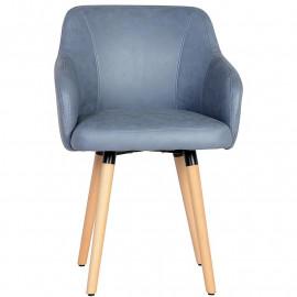 Chaise de salle à manger Eva bleue