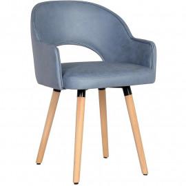 chaise de salle à manger Stella bleue