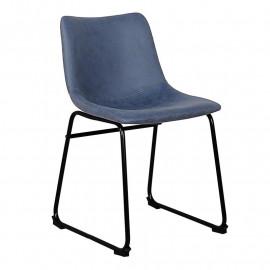 Chaise de salle à manger Léa bleue