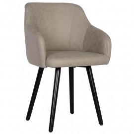 Chaise de salle à manger grise Zoé