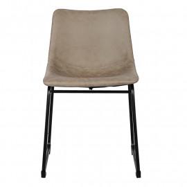 Chaise de salle à manger grise Katia