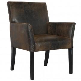 Chaise de salle à manger marron Enora