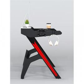 Bureau gaming en fibre de carbone noir