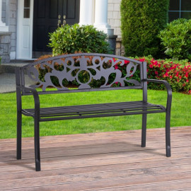 Banc de jardin 3 places en métal époxy SUMMER