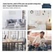 Canapé à 2 places de style scandinave AKSEL - Bleu chiné
