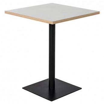 Table de bar carré blanc/noir NIGHTY