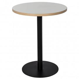 Table de bar ronde BARCELONA noire et blanche