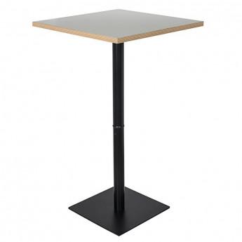 Table haute de bar Syracuse bicolore blanc/noir carré