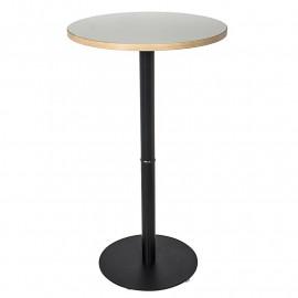 TABLE HAUTE DE BAR GIULIA BLANCHE ET NOIRE