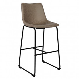 Tabouret de bar HIGH Gris