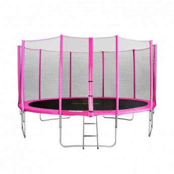 Trampoline de jardin rose JUMPY 4,27m