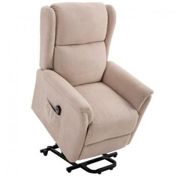 Fauteuil relax électrique ALBAN beige