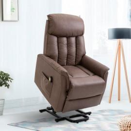 Fauteuil de relaxation electrique marron BARNABÉ