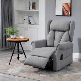 Fauteuil de relaxation OURS velours gris