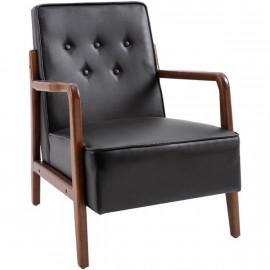 Fauteuil confortable MISSOURI noir