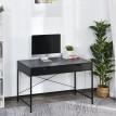 "Bureau informatique style moderne ""Ambrasia"" noir avec 2 tiroirs"