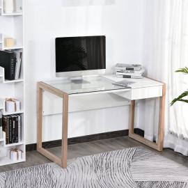Bureau STANFORD blanc et bois